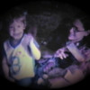 Dan Yaden, Jr. - 1981 (July) - Age 3 - With Mom (Julie) and Matthew at the Queen Avenue home - Yakima, WA (Captured from 8mm film)