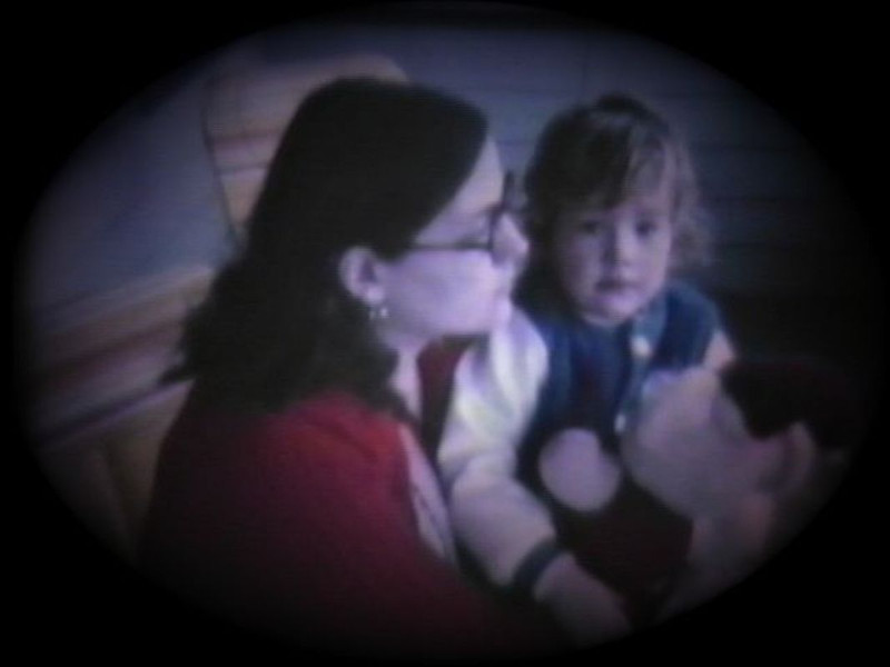 Dan Yaden, Jr. - 1981 (March) - Age 2 - With Mom (Julie) at the Queen Avenue home - Yakima, WA (Captured from 8mm film)