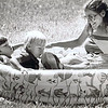 "Dan Yaden, Jr. (left) - 1984 (July) - Age 6 - With Matthew (age 3) and Mom (Julie, who is pregnant with Jacob) at the Ahtanum Youth Park  - Photo appeared in the July 5 edition of the Yakima Herald Republic - Yakima, WA<br /> <br /> The caption to the newspaper photo read:<br /> <br /> ""Room for everyone --- Julie Yaden brought a pool along to Ahtanum Youth Park to let her sons Danny, 6, and Matthew, 3, cool off in.  But as the July Fourth temperatures reached 87, she couldn't resist jumping in herself."""