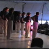 "Video Archive Clip 1997 (Aug 3) - Yaden, Jacob (Age 12) & Steven (Age 9) - Jacob (front row, 2nd from left) and Steven (front row, far end) perform the ""Pop Muzik"" routine with the Free Spirit Cloggers - Twinsburg Festival - Twinsburg, OH - Clogging Memoirs Series (3 min 34 sec)"