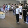 "Video Archive Clip 1998 (April 18) - Yaden Clogging - Julie (age 44), Jacob (age 13) & Steven (age 9) dance the ""I Get Knocked Down"" routine - Buffalo Clogging Workshop - Buffalo, NY - Clogging Memoirs Series (3 min 35 sec)"