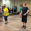 """Video Archive Clip 2014 (May 23) - Yaden Clogging - """"Banjo Fantasy"""" Time Travel - Julie, Matthew (age 32) & Jacob (age 29) dance the """"Banjo Fantasy"""" routine with a little help from Matthew's solo of 1987 - Memorial Day Spectacular Clogging Workshop - Cincinnati, OH - Clogging Memoirs Series (2 min 32 sec)"""