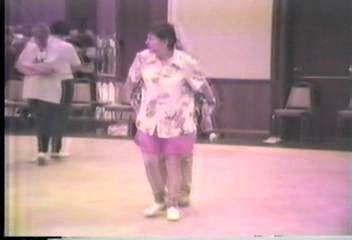 """Video Archive Clip 1996 (11) - Yaden, Julie & Jacob - Jacob (Age 12) Clogs the """"Roll In My Sweet Baby's Arms"""" Couples Routine With Mom - Hills of Kentucky Clogging Workshop - Erlanger, KY - Clogging Memoirs Series (2 min 7 sec)"""