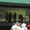 """Video Archive Clip 1999 (June 12) - Yaden, Julie & Jacob - Julie (age 45, center) and Jacob (age 14, 2nd from left) dance the """"Hot! Hot! Hot!"""" routine that Julie choreographed - Free Spirit Cloggers performance at Roscoe Village - Coshocton, OH - Clogging Memoirs Series (2 min 35 sec)"""