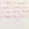 Dan & Julie Yaden - 1988 (Dec) - Julie's note on family Christmas card - Corsicana, TX