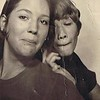 Julie Schreiner (left) with school friend Sandy Macintosh - 1970 (Summer) - Age 16 - Horsin' around in the the bus station photo booth - Yakima, WA