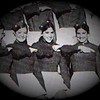Julie Schreiner (middle) - 1970 (Fall) - Age 16 - Eisenhower High School Yearbook Photo - Eisenhower Cadet Drill Team - Yakima, WA