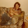 """Julie Yaden - 1977 (Summer) - Age 23 - With """"Socrates"""" in the 36th floor apartment of the Manhattan Plaza Apartments at 42nd Street & 9th Avenue - New York City, NY<br /> <br /> Dan's note:<br /> <br /> Before kids, there was Socrates the Cat.  And, of course, you wouldn't want to buy a brand new couch without having a cat to claw it to pieces......."""