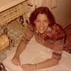 Julie [Schreiner] Yaden - 1977 (Summer) - Age 23 - In the 36th floor apartment (#36A) of Manhattan Plaza at 42nd Street & 9th Avenue - New York City, NY<br /> <br /> Dan's note:<br /> <br /> You know you're an old married couple when having the new dishwasher installed is an exciting event.......