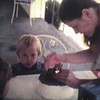 Video Archive Cip 1983 (July 3) - Yaden, Matthew J. - Matthew's 2nd birthday with a visit from Grandma Betty (age 55), Aunt Susan (32), and Aunt Pauli (age 25) - Queen Avenue home - Yakima, WA - Danny (age 5), Aaron Schreiner (age 4), Mom (Julie, age 29) - 8mm Series (2 min 58 sec)