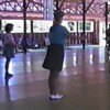 "Video Archive Clip 1987 (Aug) - Yaden Clogging - Julie (age 33, blue shirt) & Dan (age 33, tan shirt behind Julie) dance the ""Keep Your Hands To Yourself"" routine by instructor Dave Roe - Circle 8 Ranch Clogging Workshop - Cle Elum, WA (3 min 24 sec)"