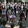 "Video Archive Clip 1987 (May) - Yaden Clogging - Dan & Julie (age 33) dance the Glendale Train routine at the Leavenworth Mayfest - Toe Tappin' Cloggers - Leavenworth, WA - Clogging Memoirs Series (2 min 54 sec)<br /> <br /> Dan's note:<br /> <br /> In December of 1986 Julie saw an ad for ""Learn How to Clog"" lessons being held in Yakima. She thought it would be fun to check it out. I told her fun for her because she can dance, not so much for me because I can't. Naturally, I lost the argument and here we are in May of 1987 performing for the hordes. We start out in the back of the circle away from the camera, then spend most of the dance to the left of the screen. Julie is the cute one with the short dark hair. I'm the dork with the red mustache and sporting a ""light perm"" that went horribly wrong......"