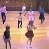 """Video Archive Clip 1987 (July) - Yaden Clogging - Yaden clan dances  the """"High Horse"""" routine at the Moxee Grange Hall Clogging Dance - Moxee, WA - Clogging Memoirs Series (3 min 18 sec)<br /> <br /> Matthew (age 6, front in striped shirt/white shorts)<br /> Danny (age 9, middle in white shirt/dark pants)<br /> Julie (age 33, middle right in blue shirt/dark skirt)"""