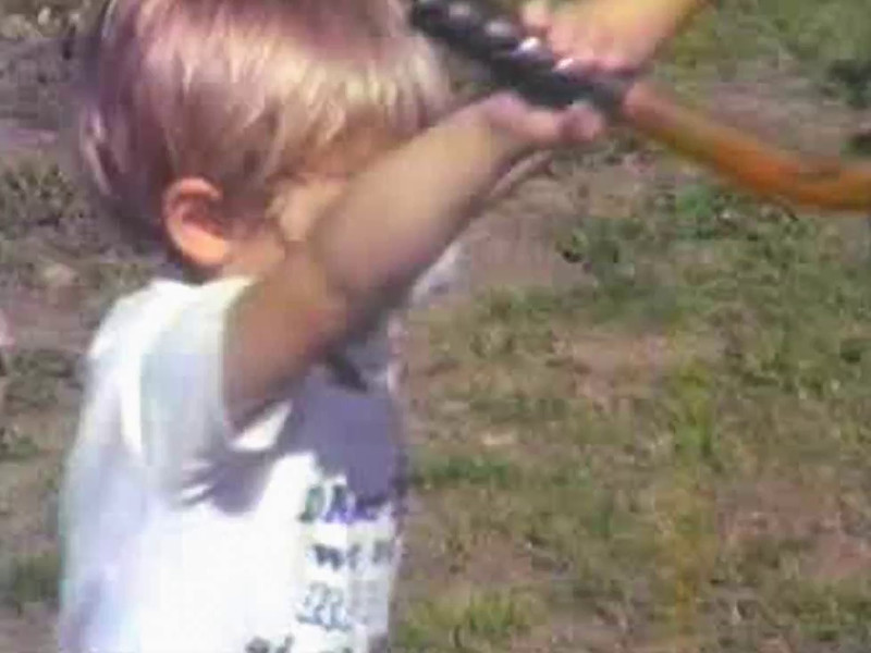 Video Archive Clip 1988 (April) - Yaden, Dan & Julie - Texas Chores - Beaton Lake Estates Home - Corsicana, TX - Danny (age 9), Jacob (age 3), Julie (age 34) pregnant with Steven - Original VHS Series (1 min 41 sec)