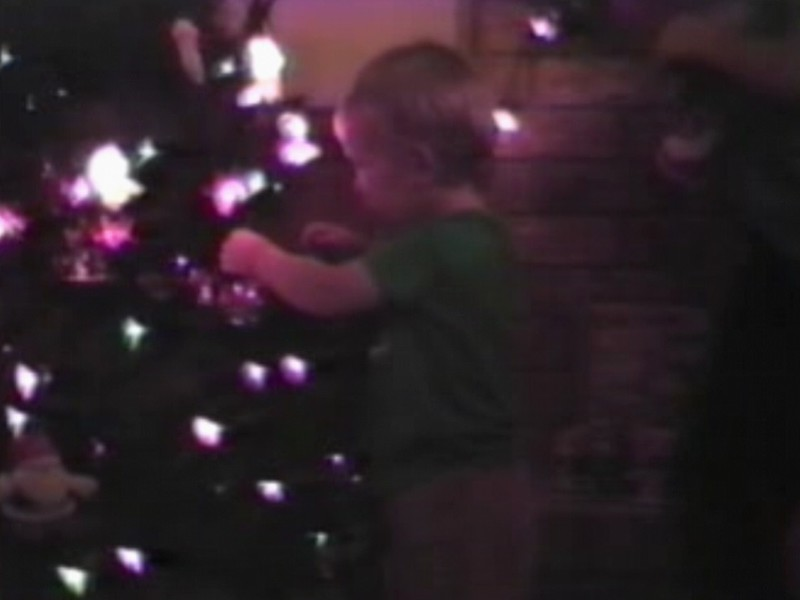Video Archive Clip 1990 (Dec) - Yaden, Dan & Julie (both age 36) - Christmas Tree Decorating - Beaton Lake Estates Home - Corsicana, TX - Danny (age 12), Matthew (age 9), Jacob (age 6), Steven (age 2) - Mixed Relations Series - Edited in January 1991 (4 min 5 sec)