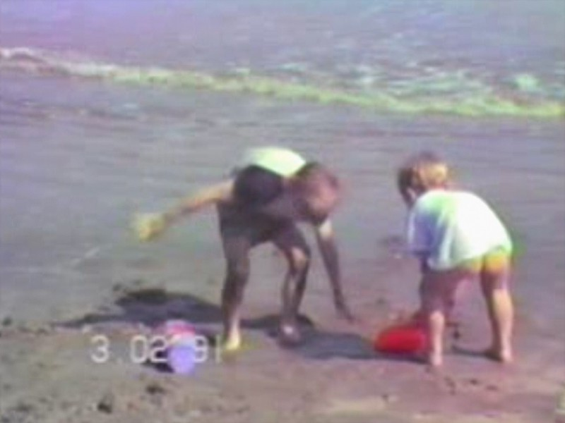Video Archive Clip 1991 (Mar) - Yaden, Dan & Julie (both age 36) - Trip to the beach - Galveston, TX - Danny (age 12), Matthew (age 9), Jacob (age 6), Steven (age 2), Alex (age 11 mos) - Mixed Relations Series - Edited in April 1991 (5 min 37 sec)