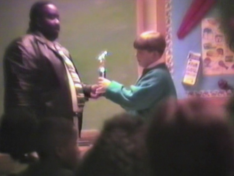 Video Archive Clip 1995 (Nov) - Yaden, Jacob B. - Age 11 - Brinkerhoff football awards banquet - Jacob wins Offensive Lineman of the Year (played center) -  Brinkerhoff Elementary School - Mansfield, OH - Mixed Relations Series (11 min 58 sec)