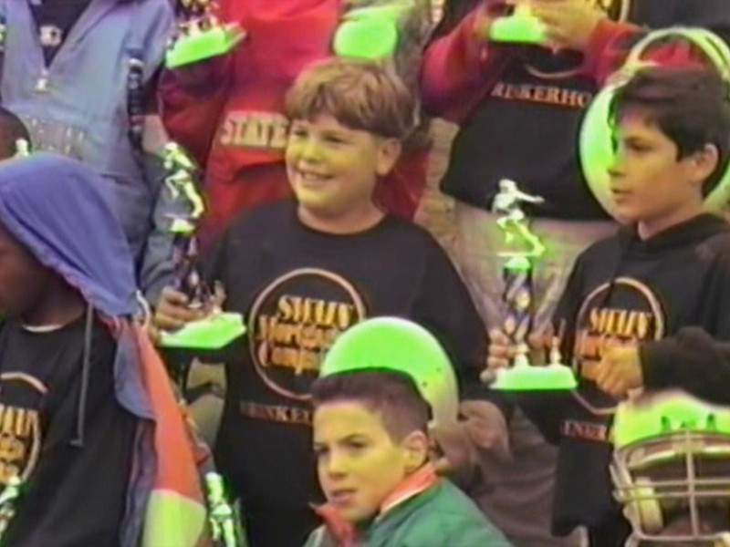 Video Archive Clip 1995 (Oct) - Yaden, Jacob B. - Age 11 (#99, playing center) - Elementary division championship football game at Arlin Field - Brinkerhoff Elementary School vs Hedges Elementary School - Mansfield, OH - Mixed Series (17 min 22 sec)