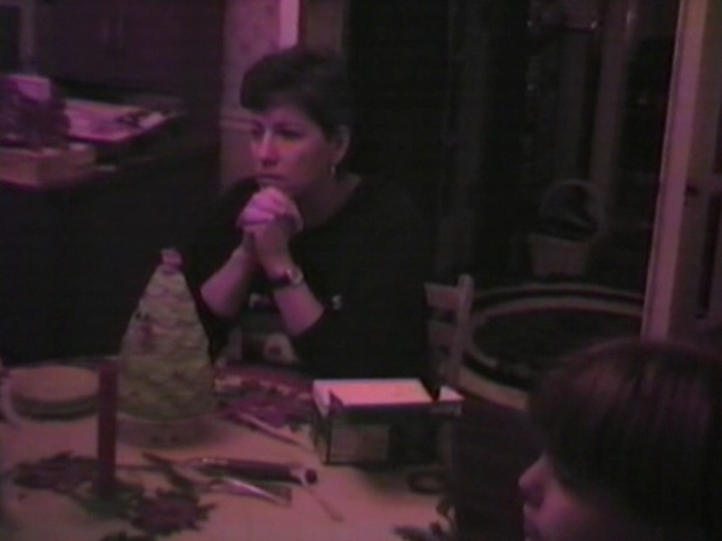Video Archive Clip 1996 (Dec) - Yaden, Dan & Julie (both age 42) - Christmas Day - Park Avenue West home - Mansfield, OH - Danny (age 18), Matthew (age 15), Jacob (age 12), Steven (age 8), Alex (age 6) - Mixed Relations Series (9 min 23 sec)