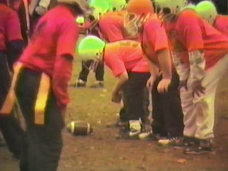Video Archive Clip 1996 (Oct) - Yaden, Jacob B. - Age 12 (#99) - Brinkerhoff Football Game - Brinkerhoff Elementary School - Mansfield, OH - Julie (age 42), Steven (age 8), Alex (age 6) - Mixed Relations Series (7 min 33 sec)