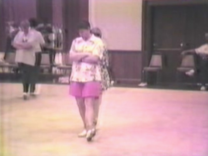 "Video Archive Clip 1996 (Nov) - Yaden, Julie & Jacob - Jacob (age 12) and Mom (age 42) dance the ""Roll In My Sweet Baby's Arms"" couples routine - Hills of Kentucky Clogging Workshop - Erlanger, KY - Clogging Memoirs Series (2 min 7 sec)"