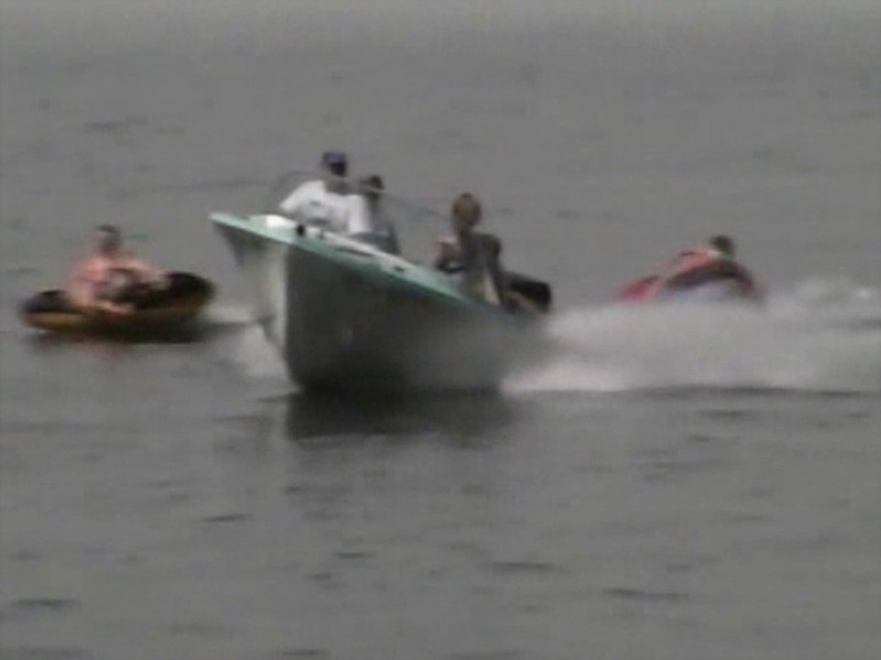 Video Archive Clip 1997 (Aug) - Yaden Family participates in Xtreme Tubing on the Columbia River - Richland, WA - Mixed Relations Series (19 min 53 sec)<br /> <br /> The Mad Vessel Commander:  Fire Marshall Mark (aka Mark Yaden, age 41)<br /> <br /> The daring Xtreme Tubsters (guinea pigs; in order of most likely to perish):<br /> <br /> Aunt Susan (Susan [Yaden] Morrison; age 46)<br /> Aunt Pauli (Pauli [Yaden] Martin; age 39)<br /> Matt Yaden (age 16)<br /> Jake Yaden (age 12)<br /> Andrew Yaden (age 12)<br /> Megan Martin (age 11)<br /> Lauren Yaden (age 10)<br /> Steve Yaden (age 9)<br /> Drew Martin (age 7)<br /> <br /> The Spectators:<br /> <br /> Dave Yaden, Sr. (age 76)<br /> Betty [Shaw] Yaden (age 69)<br /> Dan Yaden, Sr. (age 43)<br /> Julie [Schreiner] Yaden (age 43)<br /> Gail [Freeborn] Yaden (younger than the rest of us)<br /> Alex Yaden (age 7)<br /> Ben Yaden (age 4)