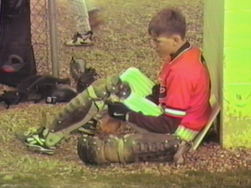 Video Archive Clip 1997 (May) - Yaden, Matthew J. - Age 15 - Matt plays baseball (#7, catcher) for Mansfield Sr. (Tygers) - Mansfield Senior High School - Mansfield, OH - Mixed Relations Series (5 min 56 sec)