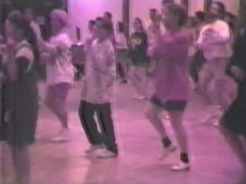 Video Archive Clip 1997 (May) - Yaden Clogging - Julie (age 43) and Jacob (age 12) dance the final run-through of a new routine - Columbus Clogging Workshop - Columbus, OH - Clogging Memoirs Series (2 min 10 sec)