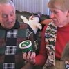 Video Archive Clip 1998 (Dec 25) - Yaden, Dan & Julie (both age 44) - Christmas Day with Grandpa Dave & Grandma Betty - 611 Park Avenue West - Mansfield, OH - Dave Yaden, Sr. (age 77), Betty [Shaw] Yaden (age 70), Danny (age 20, not present, with Marines in the Persian Gulf), Matthew (age17), Jacob (age 14), Steven (age 10), Alex (age 8) - Mixed Relations Series (15 min 17 sec)