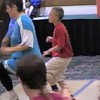 "Video Archive Clip 1998 (May 23) - Yaden Clogging - Julie (age 44, blue top/black tights) & Steven (age 10, red shirt/white shorts) learn the ""Gone Goodbye"" routine by instructor Steve Smith - Memorial Day Weekend Clogging Workshop - Columbus, OH - Clogging Memoirs Series (2 min 42 sec)"