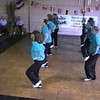 """Video Archive Clip 1998 (Sept 29) - Yaden Clogging - Julie (age 44, back row 2nd from camera), Jacob (age 13, back row nearest camera), and Steven (age 10, back row far end) dance the """"Ooh Ahh"""" routine - Free Spirit Cloggers Performance at Geauga Lake - Aurora, OH - Clogging Memoirs Series (3 min 5 sec)"""