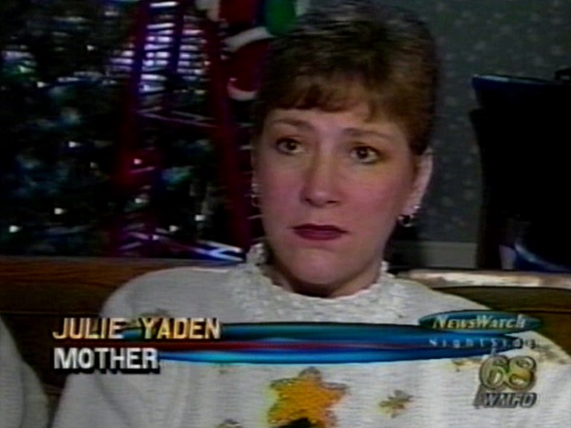 Video Archive Clip 1998 (Dec) - Yaden, Dan & Julie (both age 44) - Television coverage by WMFD TV/Mansfield of the bombing of Iraq (Dec 16-19).  Danny (age 20) is featured in the clip as one of the Marines deployed to the Persian Gulf as a result of the bombing. - Mansfield, OH (3 min 28 sec)