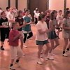 """Video Archive Clip 1998 (May 23) - Yaden Clogging - Julie (age 44, 3rd row in blue top/black tights), Jacob (age 13, 3rd row in black shirt/shorts) & Steven (age 10, front row in red shirt/white shorts) dance the """"Everybody"""" routine by instructor Jeff Driggs - Memorial Day Weekend Clogging Workshop - Columbus, OH - Clogging Memoirs Series (2 min 53 sec)"""
