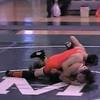 Video Archive Clip 1998 (Nov) - Yaden, Matthew J. - Age 17 - Matt (orange singlet) wrestles for Mansfield Senior High School - Nov Match 1 - Mansfield, OH - Original VHS Series (1 min 11 sec)