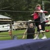 Video Archive Clip 1999 (Jun) - Yaden, Dan & Julie (age 45) - Matt and the gang from NRW (No Rules Wrestling) bring the wrestling ring to Honeycreek campground before Matt departs for Marine Corps boot camp; first match Cold Stone Steve Yaden vs older brother Jake - Bellville, OH - Matthew (age 17), Jacob (age 14), Steven (age 11) - Mixed Relations Series (4 min 40 sec)