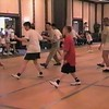 """Video Archive Clip 1999 (May 29) - Yaden Clogging - Julie (age 45, back row in USMC shirt) and Steven (age 11, center in red shirt) dance the """"Crazy"""" routine by instructor Scotty Bilz - Memorial Day Weekend Clogging Workshop - Columbus, OH - Clogging Memoirs Series (3 min 10 sec)"""