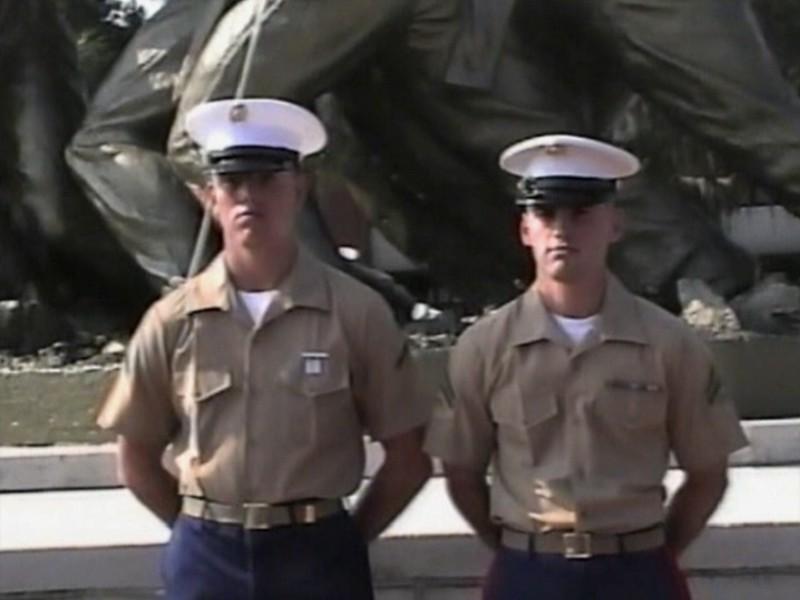 Video Archive Clip 1999 (Sep) - Yaden, Matthew J. - Age 18 - Matt graduates boot camp as a United States Marine - PART 3 OF 3 - Marine Corp Recruit Depot at Parris Island - Parris Island, SC - Danny (age 21, in uniform), Jacob (age 14), Steven (age 11), Alex (age 9), Julie & Dan (both age 45) - Original VHS Series (11 min 58 sec)
