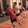 "Video Archive Clip 1999 (May 29) - Yaden Clogging - Julie (age 45, in USMC shirt) and Steven (age 11, in red shirt) dance the ""We've Got It Goin' On"" routine by instructor Scotty Bilz - Memorial Day Weekend Clogging Workshop - Columbus, OH - Clogging Memoirs Series (3 min 42 sec)"