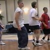 """Video Archive Clip 1999 (May 29) - Yaden Clogging - Julie (age 45, front row in USMC shirt), Jake (age 14, front row center in sleeveless shirt), and Steve (age 11, front row far end in red shirt) dance the """"Shout & Feel It"""" routine with instructor Denise Baird - Memorial Day Weekend Clogging Workshop - Columbus, OH - Clogging Memoirs Series (2 min 42 sec)"""