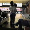 Video Archive Clip 1999 (April 4) - Yaden, Dan & Julie (both age 45) - Family bowling at Cedar Lanes on Alex's 9th birthday - Mansfield, OH - Jacob (age 14), Steven (age 10), Alex (age 9) - Original VHS Series (9 min 33 sec)