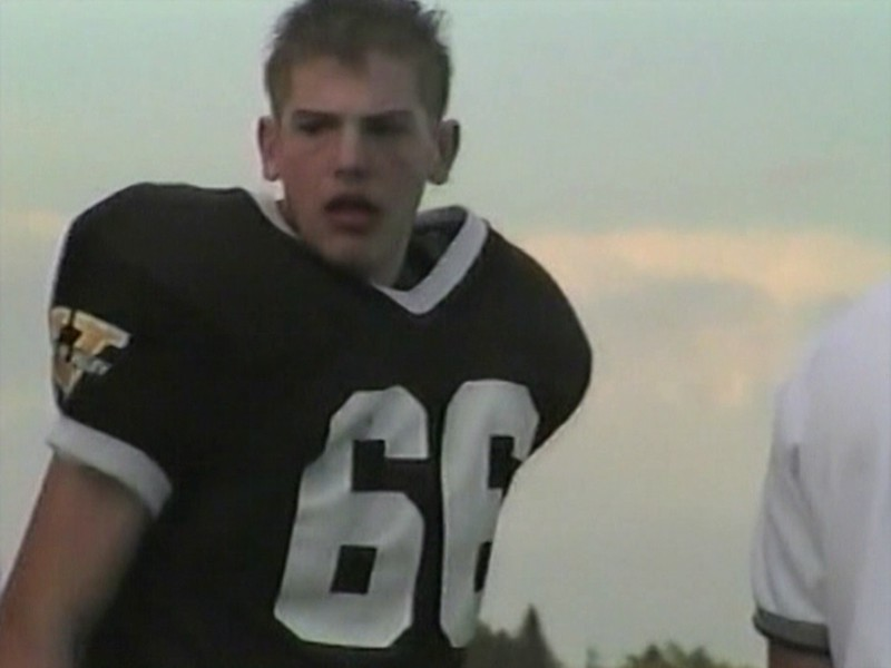 Video Archive Clip 2000 (Oct) - Yaden, Jacob B. - Age 15 - Jake (#66, black uniform) plays JV football for Thompson Valley High School - Loveland, CO - Mixed Relations Series (11 min 6 sec)