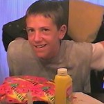 Video Archive Clip 2001 (May) - Yaden, Steven R. - Age 13 - Steven celebrates his 13th birthday (May 16) - Dan & Julie (both age 47), Alex (age 11) - Storm Mountain home - Drake, CO - Origin ...