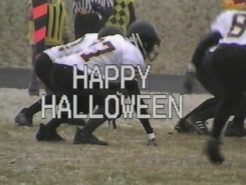 Video Archive Clip 2003 (Oct) - Yaden, Steven R. - Age 15 - Steve (#27, white jersey) plays JV football (fullback) for the Thompson Valley Eagles - Game 2 - Thompson Valley High School vs Niwot High School - Niwot, CO - Mixed Relations Series (12 min 40 sec)