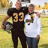 Steve Yaden - 2005 (Oct) - Age 17 - With Mom (Julie, age 51) after playing fullback for the 2005 4A Northern Division champion Thompson Valley Eagles - Ray Patterson Field at Thompson Valley High School - Loveland, CO