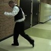 Video Archive Clip 2005 (Dec) - Yaden, Steven R. - Age 17 - Clog dance demo - Steve does some impromptu clogging to include on his college recruitment tape - Thompson Valley High School - Loveland, CO - Original VHS Series (1 min 3 sec)<br /> <br /> Dad's note:<br /> <br /> Following a cello practice in the music room of Thompson Valley High School, Steve decided to add an impromptu clogging demo to his football highlights tape for college recruiters.  At the time Tommie Frazier of University of Nebraska fame became head coach at Doane College in Crete, NE.  Tommie said that while he was intrigued with the way Steve ran the football, he was even more intrigued with Steve's clogging footwork at the end of the highlights tape, and that's what got him the interview!  Tommie would go on to select Steve for the 2006 Doane College football starting roster at the fullback position.