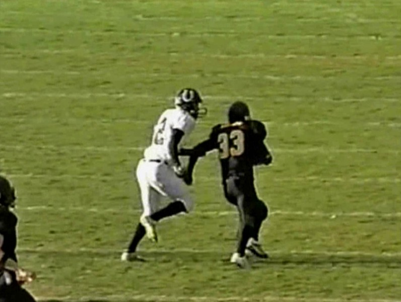 Video Archive Clip 2005 (Nov 19) - Yaden, Steven R. - Age 17 - OFFENSIVE HIGHLIGHTS FROM PUEBLO SOUTH GAME - Steve (#33, fullback, black jersey) plays varsity football for Thompson Valley High School - Class 4A Quarterfinal State Playoffs - Thompson Valley Eagles vs Pueblo South Colts at Ray Patterson Field - Loveland, CO - Final score Thompson Valley 18, Pueblo South 15 (19 min 47 sec)<br /> <br /> Note: In 2005 the Thompson Valley Eagles captured their first Northern Conference title in 16 years under head coach Clint Fick. They advanced to the Semifinal State Playoffs where they were defeated by the ThunderRidge Grizzlies