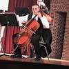 Video Archive Clip 2007 (May 3) - Yaden, Steven R. - Age 18 - Steven plays cello in the Doane College Strings Orchestra (Freshman year) - PART 1 OF 2 - Stacy Hanson Sands, Director of Strings - Heckman Auditorium at Doane College - Crete, NE - Original VHS Series (16 min 1 sec)