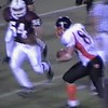 Video Archive Clip 2008 (Nov 3) - Yaden, Steven R. - Age 20 - Steven (#80, white jersey) agrees to help out with fullback and tight end duties in the Doane JV game against Hastings College (Junior year) - Matt Franzen, Head Coach - Doane College (Tigers) of Crete, NE vs Hastings College (Broncos) of Hastings, NE - Lloyd Wilson Field at Hastings College - Mixed Relations Series (10 min 13 sec)