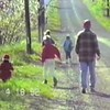 Yaden Time Warp 1992:  Asparagus hunt with Grandpa Dave