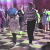 "Clogging Time Warp:  Steve & Dad dance ""Lay Down Sally"" routine"